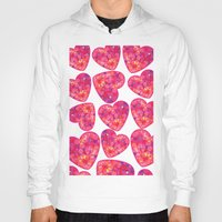hearts Hoodies featuring Hearts by luizavictoryaPatterns