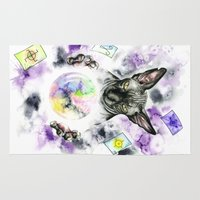 sphynx Area & Throw Rugs featuring Daubie the fortune teller  by Psyca