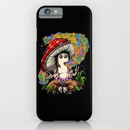 Psychedelic Magic Mushroom Hippie Psilocybin Shrooms iPhone Case