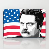 ron swanson iPad Cases featuring RON SWANSON Quote#5 by Michelle Eatough