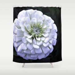 The White Zinnia Shower Curtain