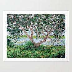 Beaufort Live Oak Art Print