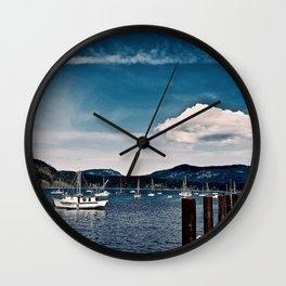 Cowichan Bay Marina, Cowichan Bay B.C. Canada Wall Clock