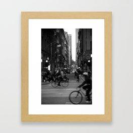 See you in twenty minutes. (Flinders Lane, 2011) Framed Art Print