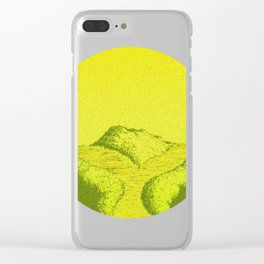 Yellow Y Path Clear iPhone Case