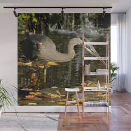 Stalking the pond Wall Mural