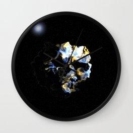 Ghostly Nebulae Wall Clock