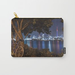 Auckland cityscape bicycle break after dark Carry-All Pouch