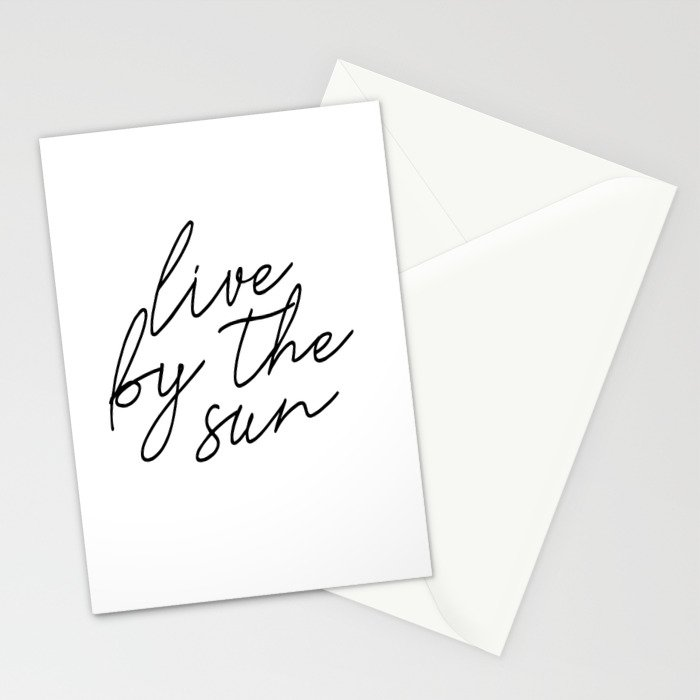 live by the sun love by the moon (1 of 2) Stationery Cards