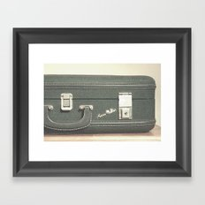 Aero Pak Suitcase - Travel Print Framed Art Print