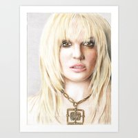 britney Art Prints featuring Britney by LeonieMV