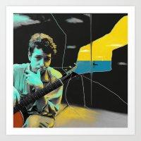 bob dylan Art Prints featuring Bob Dylan by Zmudart