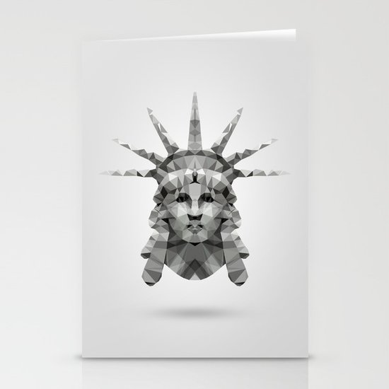 Polygon Heroes - Liberty Stationery Cards