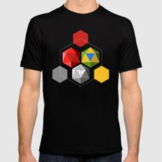 geek geometry Black Mens Fitted Tee LARGE