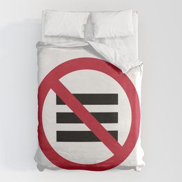 No Hamburger bar Duvet Cover