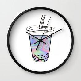 Holographic Bubble Tea Wall Clock