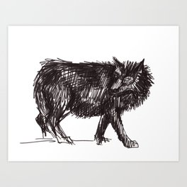 In Every Story the Wolf Comes At Last Art Print