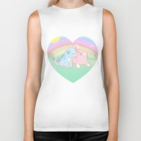 puppies Biker Tanks featuring Puppies in love by Fufunha