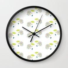 Rain Pattern Wall Clock