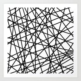 Lazer Dance Black on White Art Print