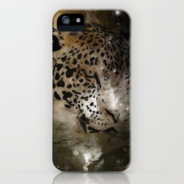 Space Leopard Knows What You Did iPhone Case