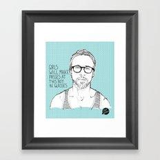 Hey Girl, The Gosling Framed Art Print