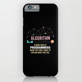 Algorithm Definition - Funny Programming Definition iPhone Case