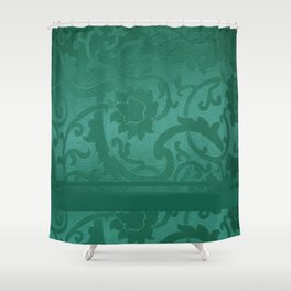 FLORAL SHADOW TAPESTRY | turquoise Shower Curtain