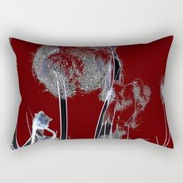 Abstract R/B Rectangular Pillow