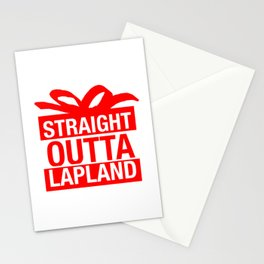 Straight Outta Lapland Stationery Cards