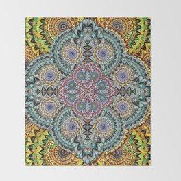 Mind Healing Mandala Throw Blanket