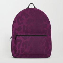 Purple Shadowed Leopard Print Backpack