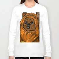 ewok Long Sleeve T-shirts featuring Ewok by Art of Fernie