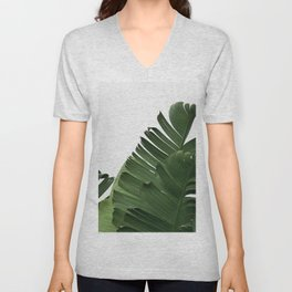 Minimal Banana Leaves Unisex V-Neck