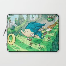 Starring Sonic and Miles 'Tails' Prower (Blue Version) Laptop Sleeve