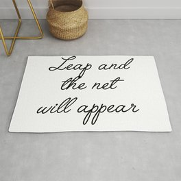 leap and the net will appear Rug