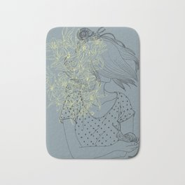 Slow and lillies Bath Mat