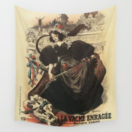 The rabid cow parade Paris 1897 Wall Tapestry