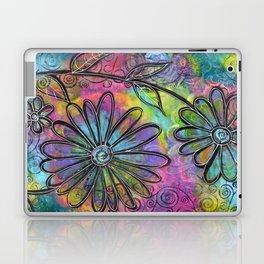 """Flower Madness""   Original painting by Mimi Bondi Laptop & iPad Skin"