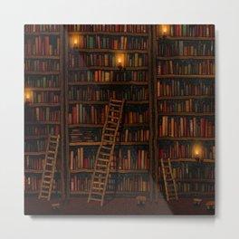 Night library Metal Print