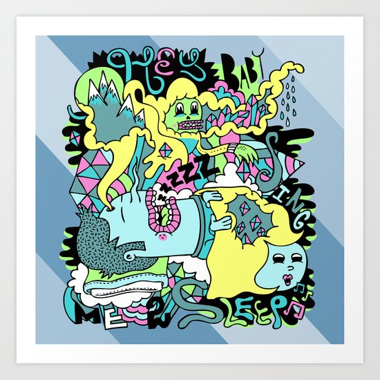 Sing me to sleep Art Print