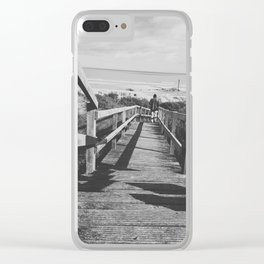 Man's Solo Journey Clear iPhone Case