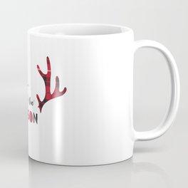 Tis the Season Antlers Coffee Mug