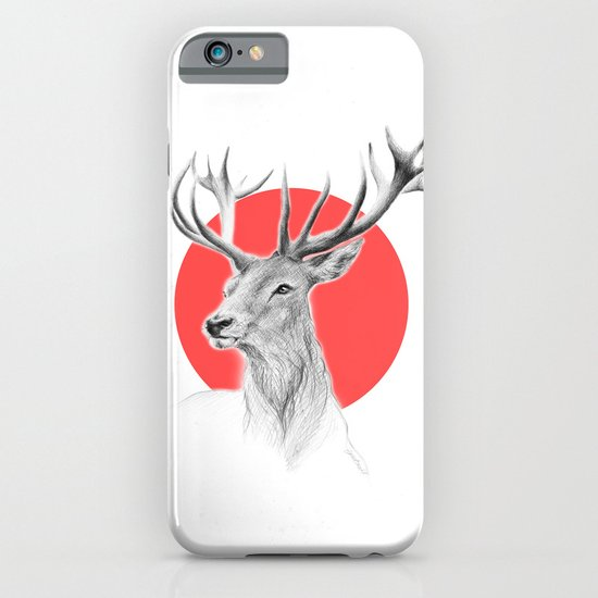 Deer | red iPhone & iPod Case