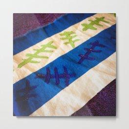 Marks On Fabric Metal Print