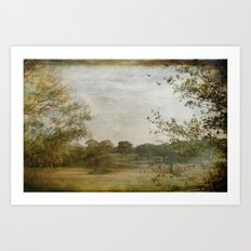 A Walk in the Country Art Print
