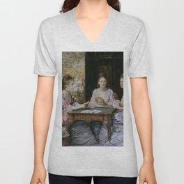 John Everett Millais - Hearts are Trumps Unisex V-Neck