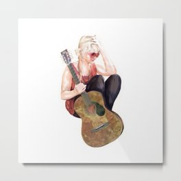 Guitar Mary 1 Metal Print