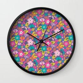 Floral Brights Wall Clock