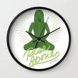 Rise Above the Bullsh*t - Green Goddess Wall Clock